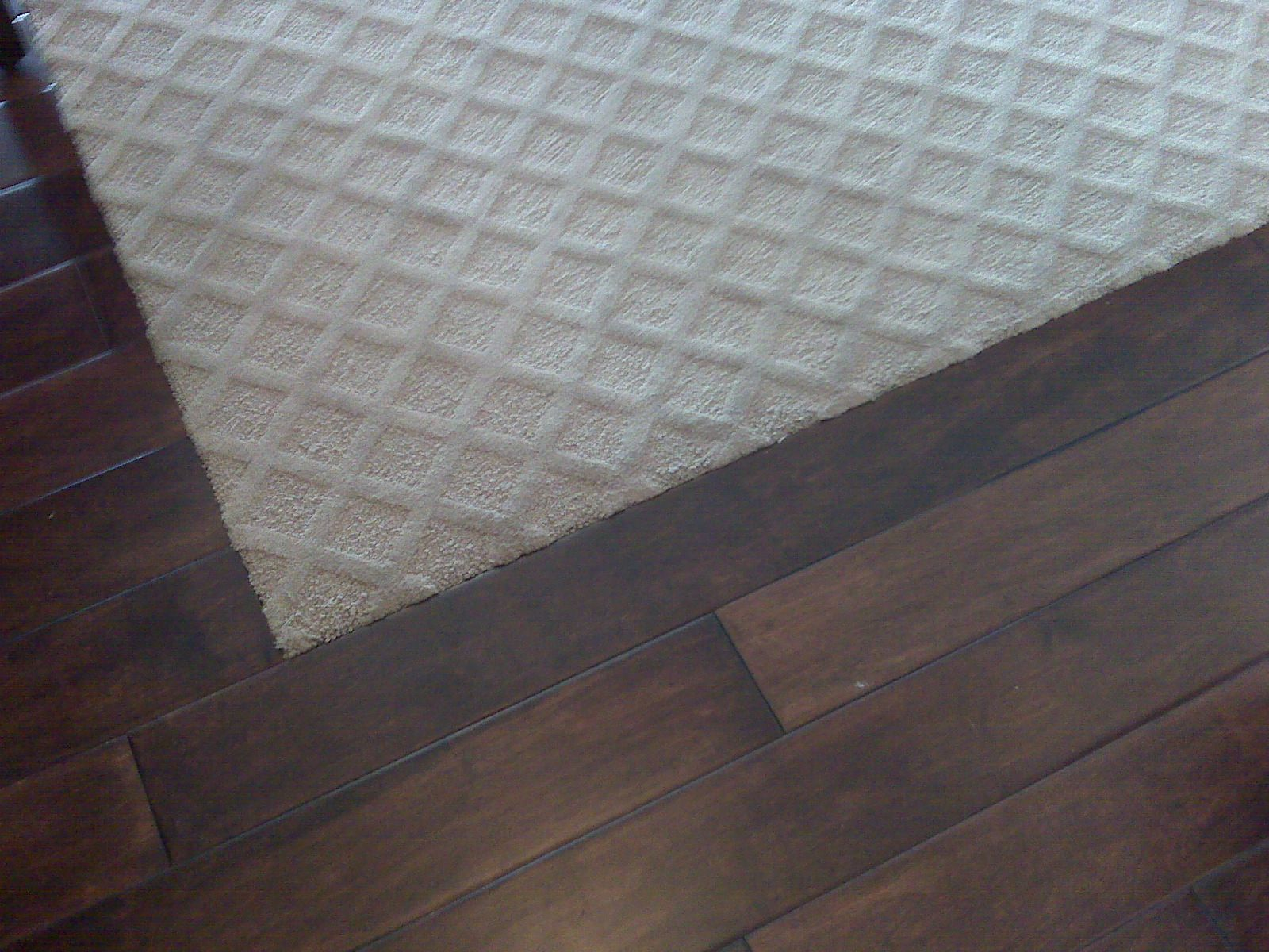Carpet Inset In Wood Flooring For The Upstairs Bedrooms I