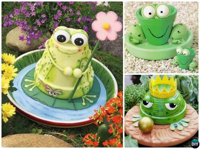 diy clay pot frog 1 DIY Terra Cotta Clay Pot Garden Craft Projects  Diy tontöpfe