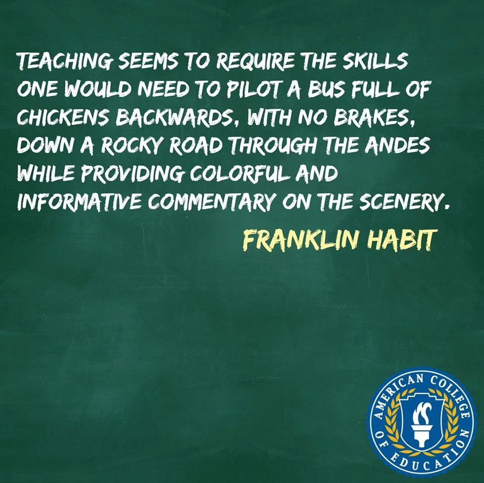 Teaching Quotes Franklin Habit Inspirational Teacher Quote  Inspiration  Pinterest