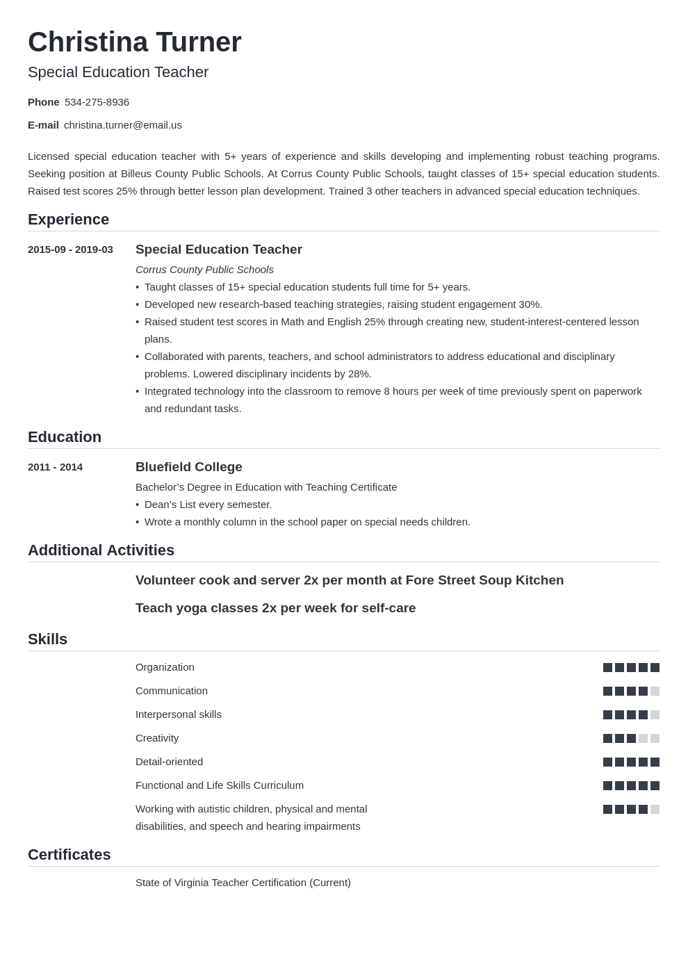 special education teacher resume example template nanica