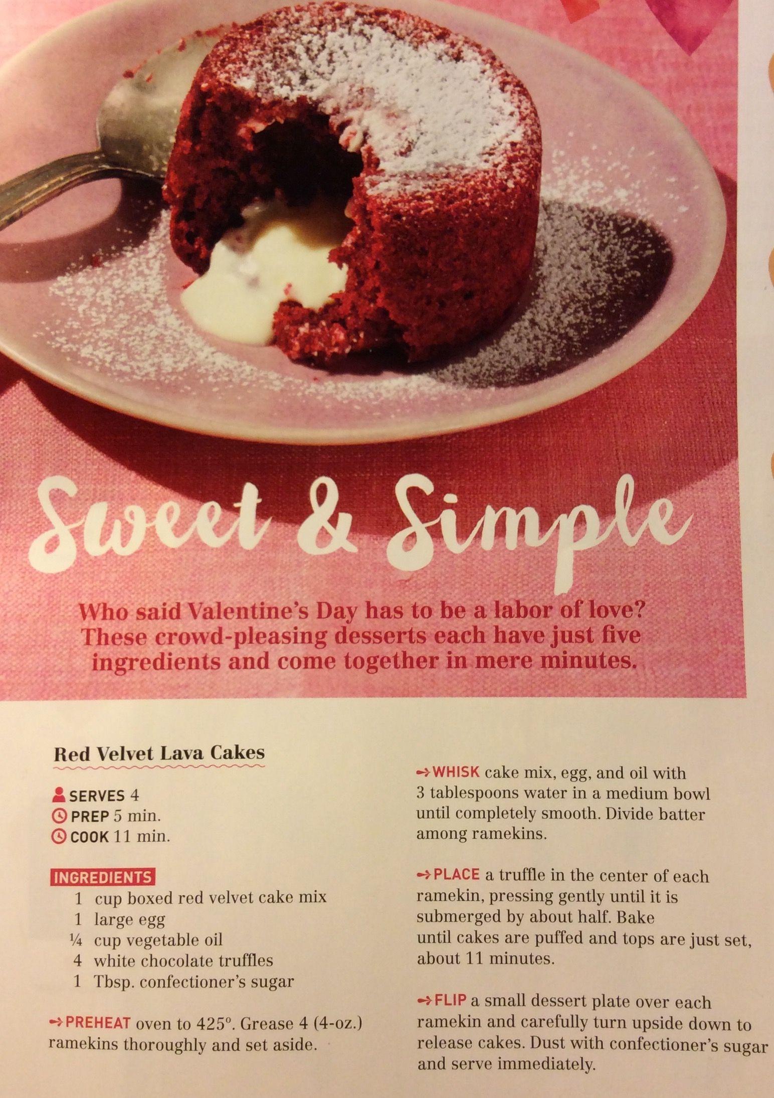 Red Velvet Lava Cake Recipe By Curtis Stone Lava Cake Recipes Cake Servings Desserts