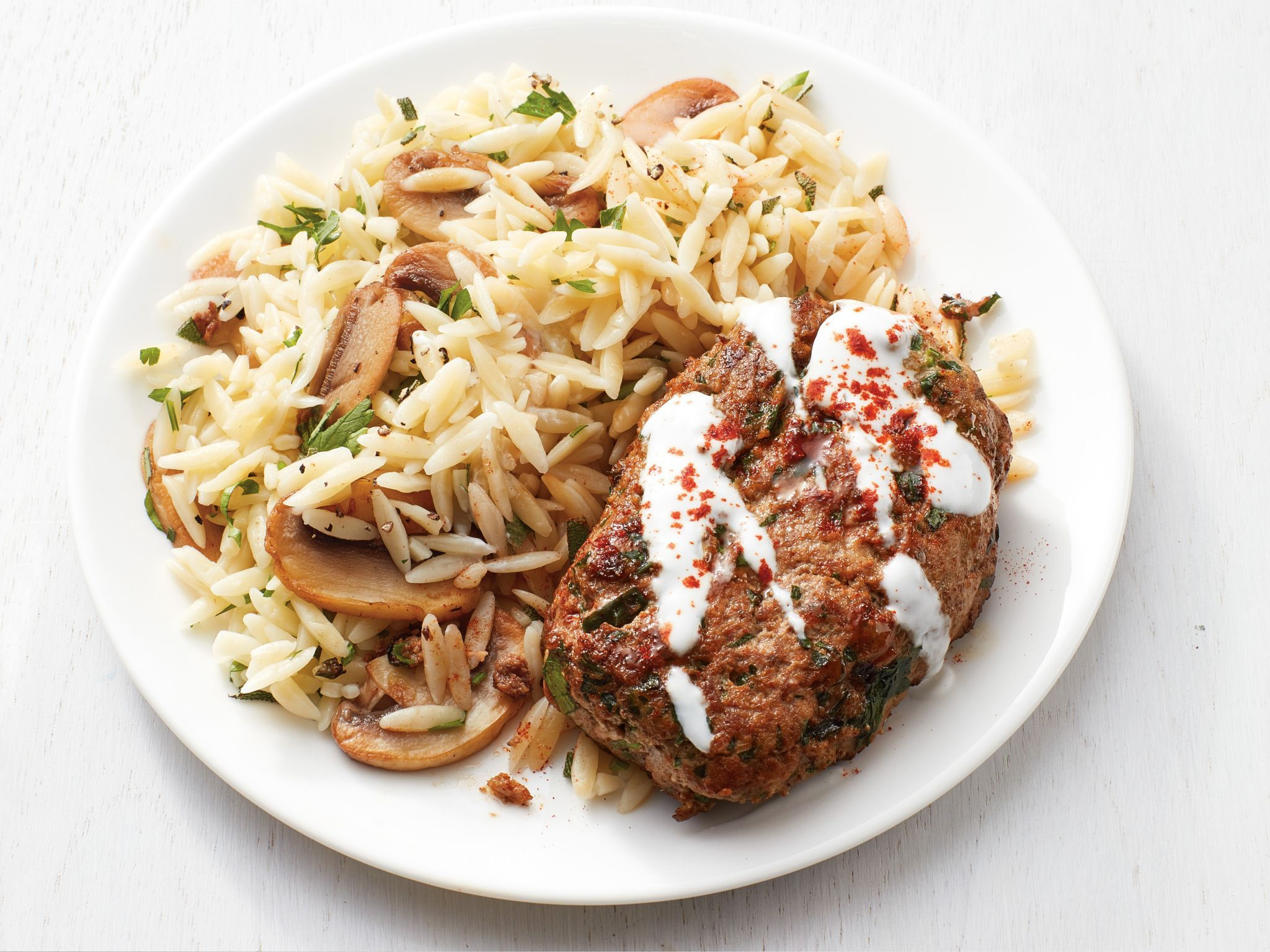 Mini meatloaves with mushroom herb orzo recipe orzo recipes mini meatloaves with mushroom herb orzo orzo recipeslamb recipesmeat recipesdinner recipesdinner ideashealthy recipesfood network forumfinder Image collections