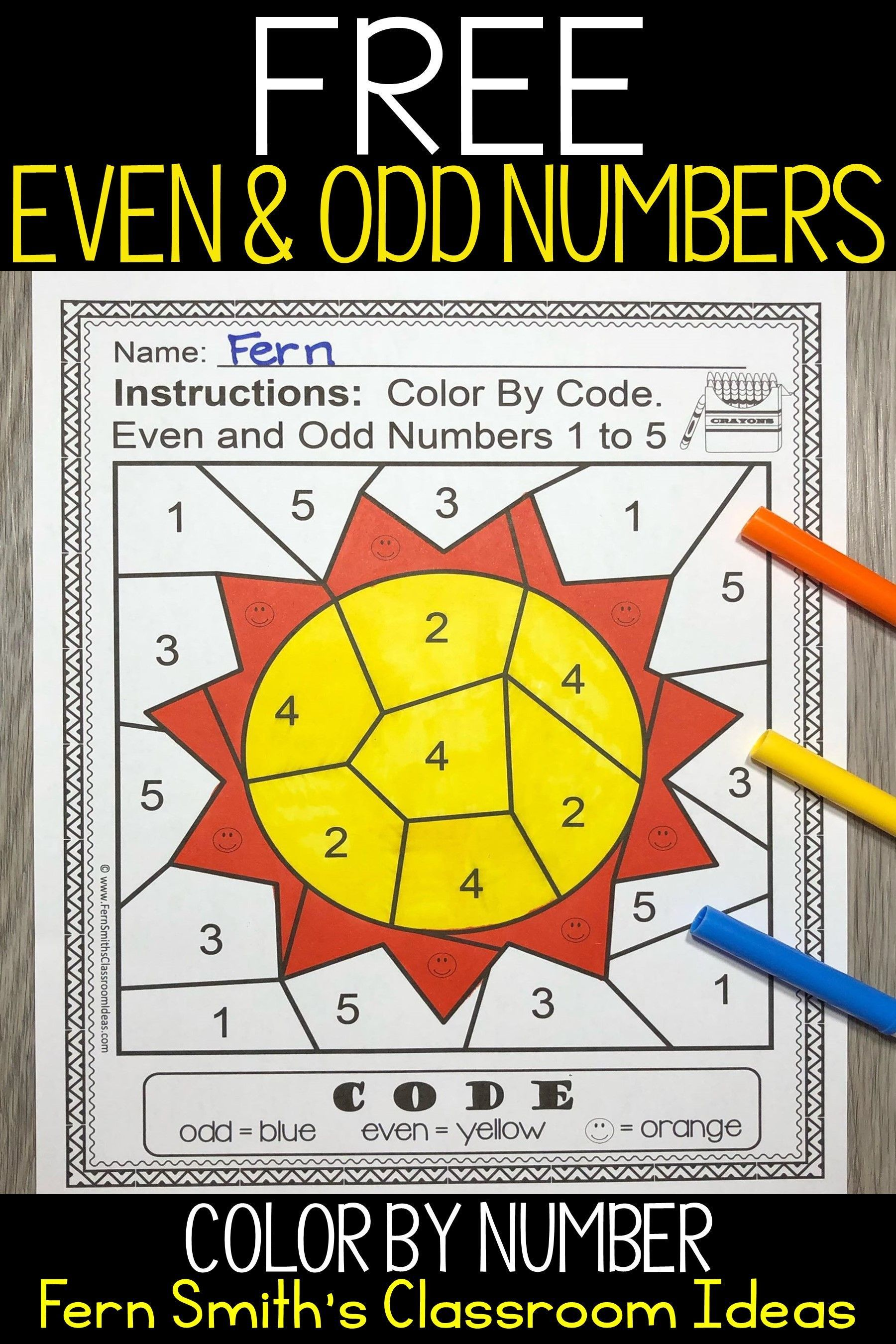 Are You Getting Ready To Teach Odd And Even Numbers In
