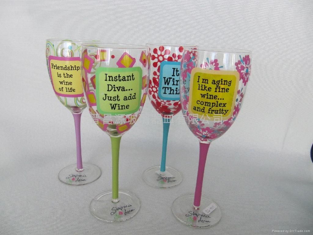 Image detail for hand painting wine glass china trading for Type of paint to use on wine glasses