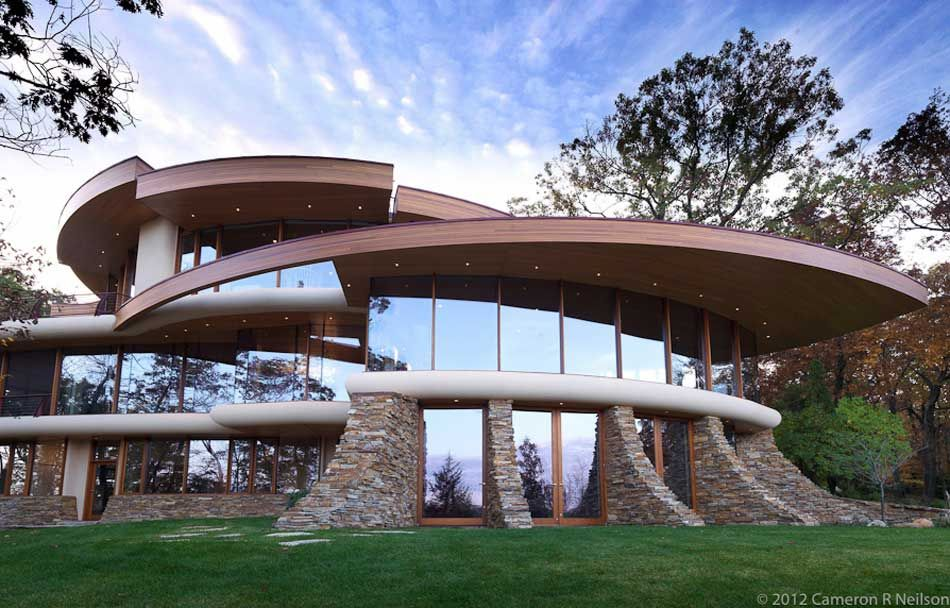 The Crazy Curvy Chenequa Residence In Wisconsin Dream Homes - Luxury homes in wisconsin