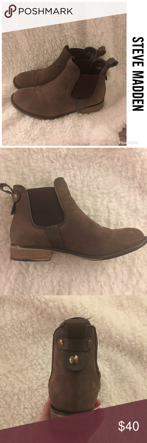8d4ebdff39e Steve Madden Dover Chelsea Bootie Super cute booties Reposting because they  don t fit They re sized as a 7.5 but they fit closer to an 8!