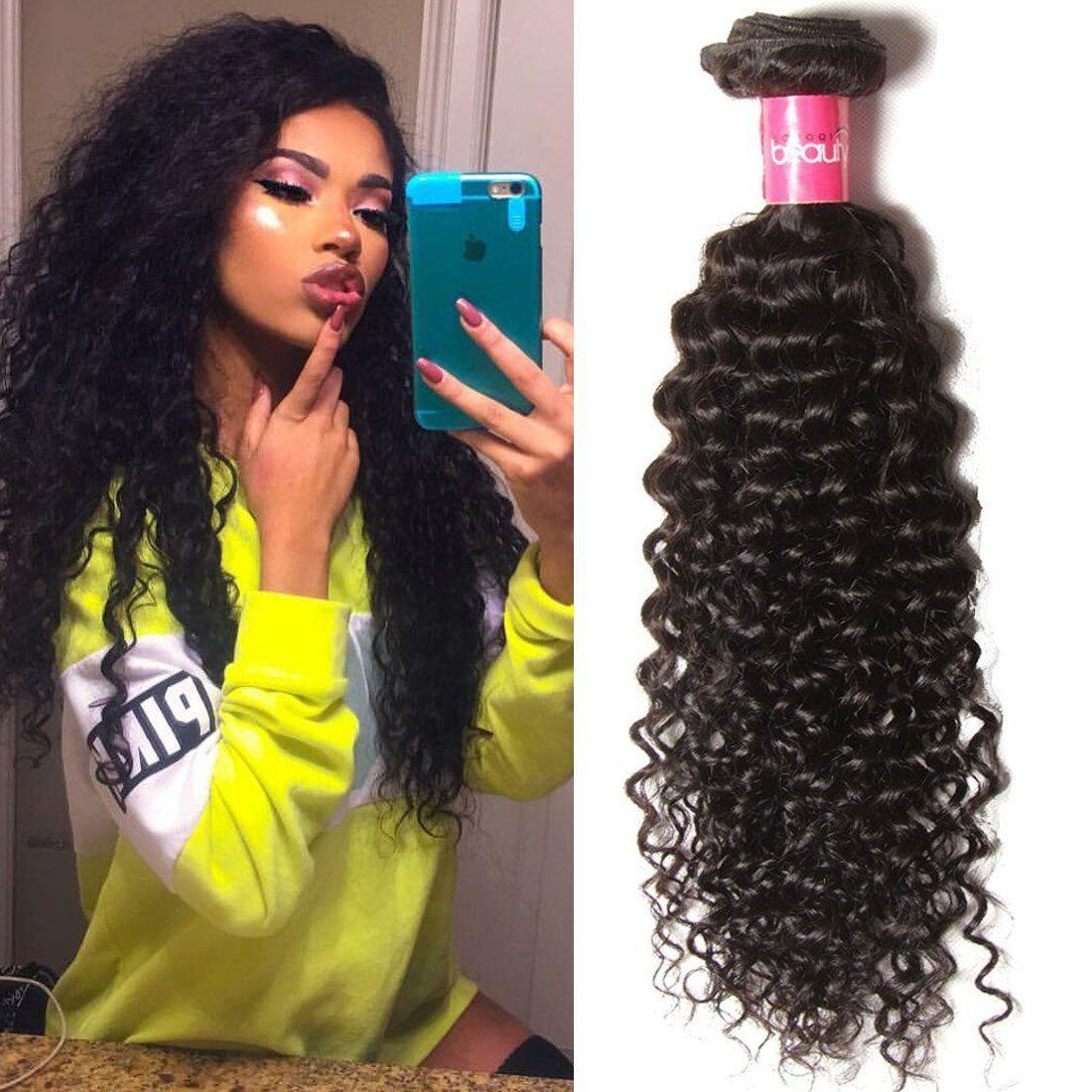 Klaiyi Hair Good Quality Brazilian Curly Hair Weave 1bundle Virgin