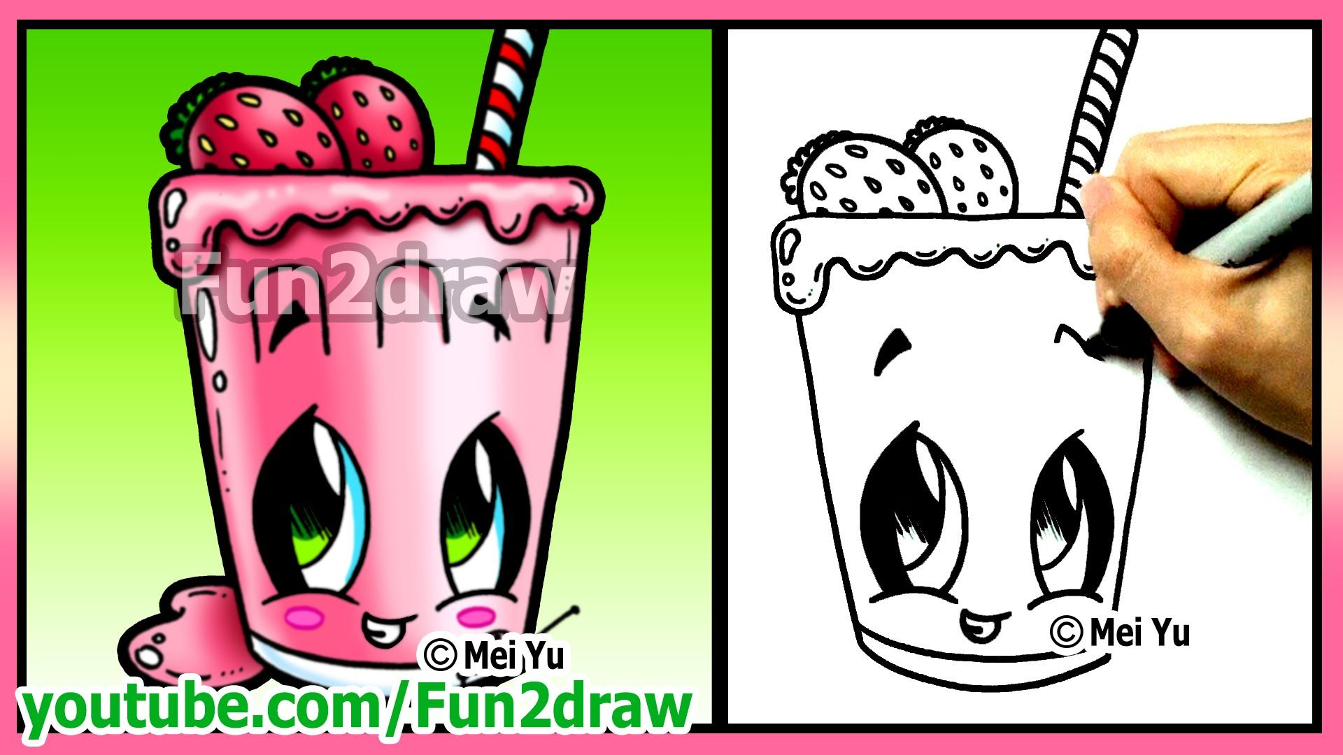 How to draw easy things fruit smoothie funny extra for Fun and easy pictures to draw