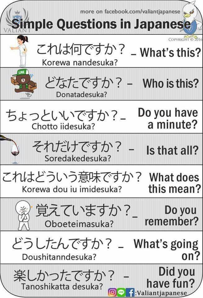simple japanese questions japanese language expressions