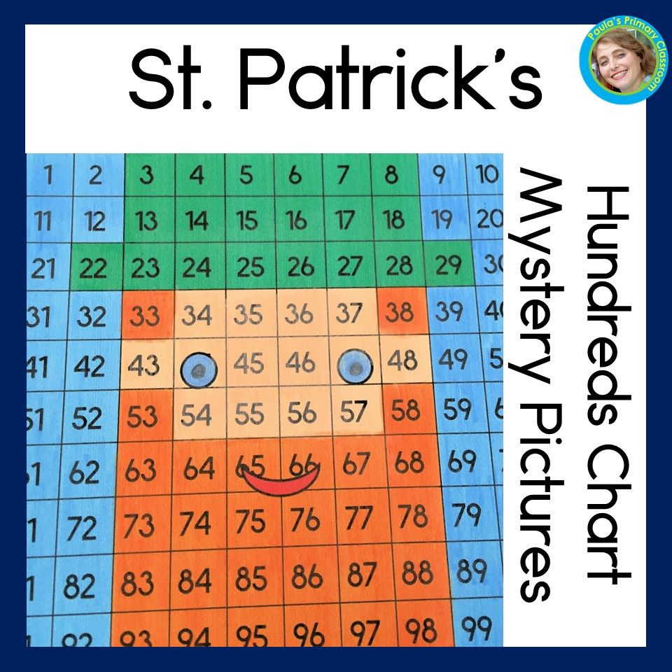St Patrick S Day 100 Chart Mystery Pictures Math Worksheets For Kindergarten First Gra Mystery Pictures St Patrick Day Activities Kindergarten Math Worksheets [ 960 x 960 Pixel ]