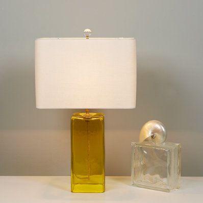 Soft modern recycled glass table lamp decor goals pinterest soft modern recycled glass table lamp aloadofball Choice Image