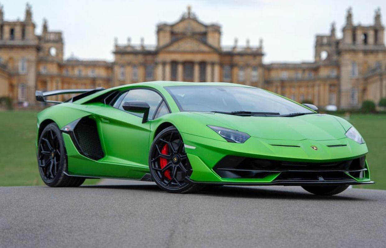 Lamborghini Aventador Svj Painted In Verde Alceo W Exposed Carbon