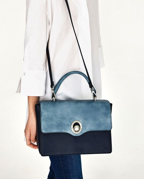 Image 4 of CITY BAG WITH INTERCHANGEABLE FLAP from Zara | Bags ...