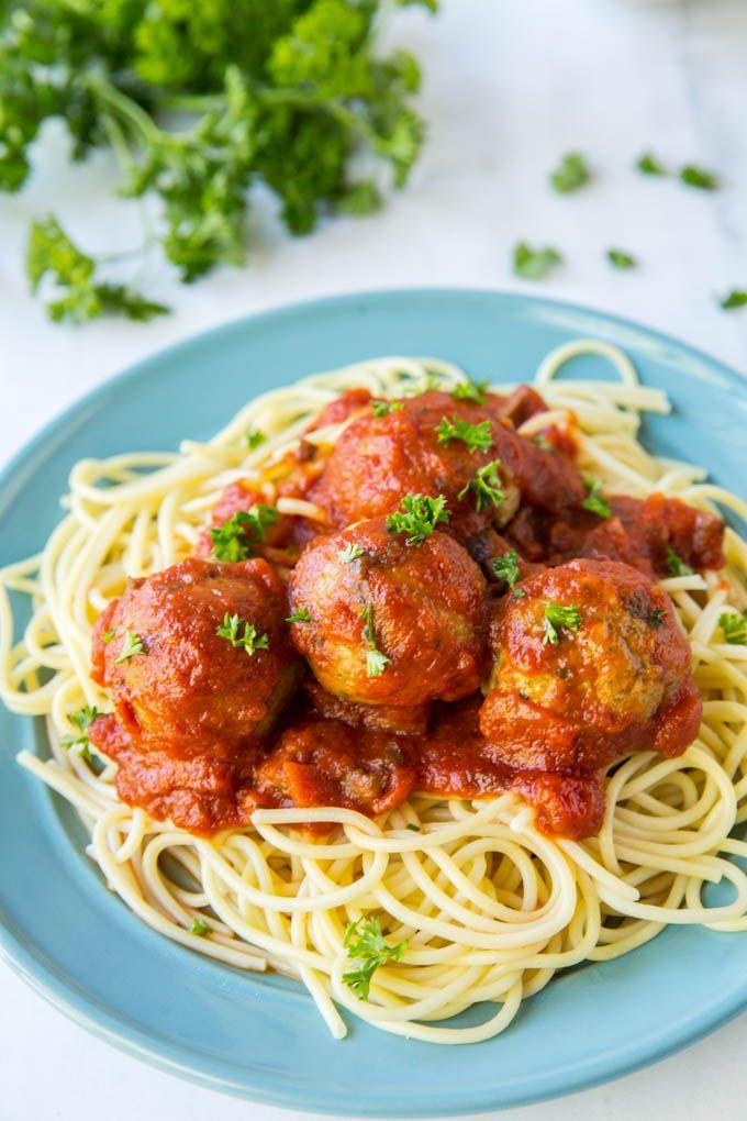 easy baked chicken meatballs | yellowblissroad
