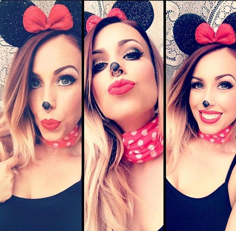 Minnie, Minnie Mouse, Minnie Mouse makeup, Halloween, Halloween - halloween makeup ideas easy