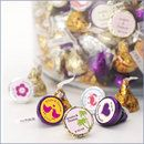 Personalized Hershey Kisses Chocolate Wedding Favors - 100 pcs