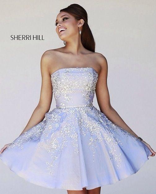 1d7f1137eb4 Strapless Short Lavender Prom Dress