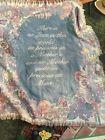 """Tapestry Luxury Weight Triple Woven Afghan Throw 48"""" X 60"""" Cotton Mothers Love"""