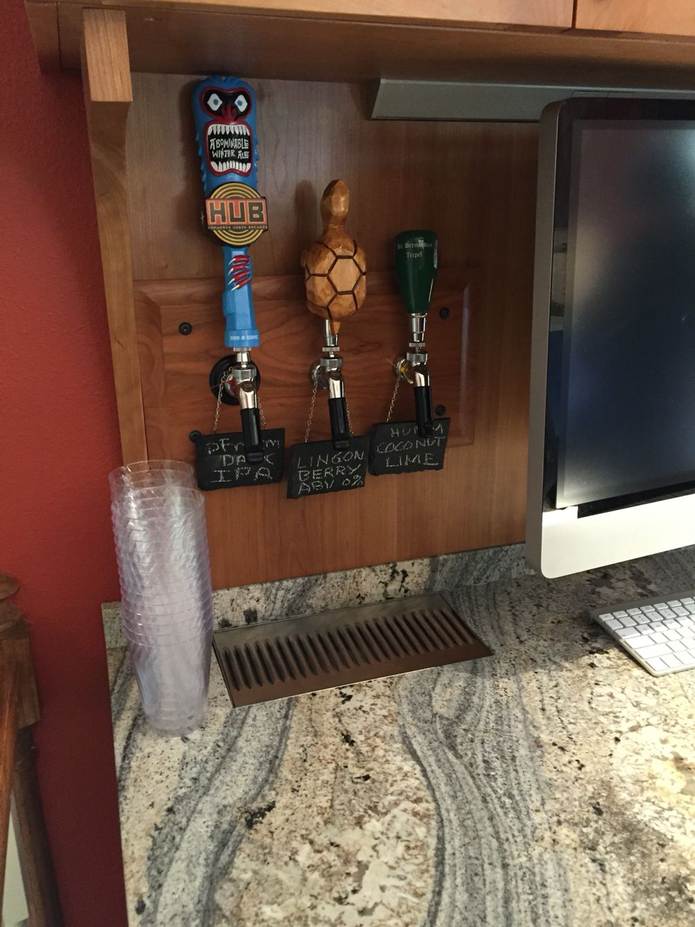 Beer taps in wall … Indoor bar, Bar room, Beer taps