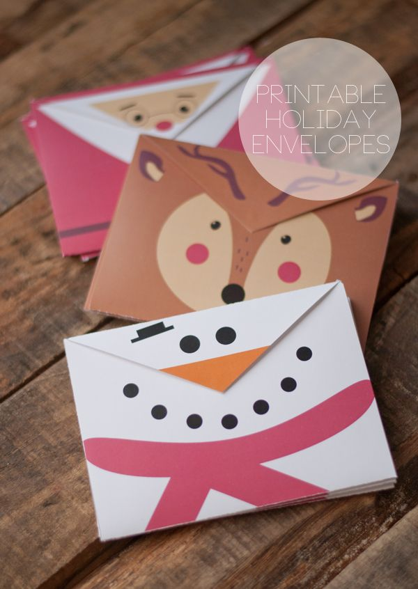 Printable Holiday Envelopes • this heart of mine