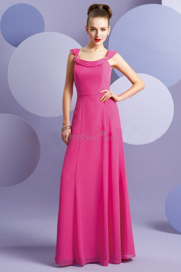 Fancy Watermelon Junior Bridesmaid Dress with Cowl Neckline £59.66