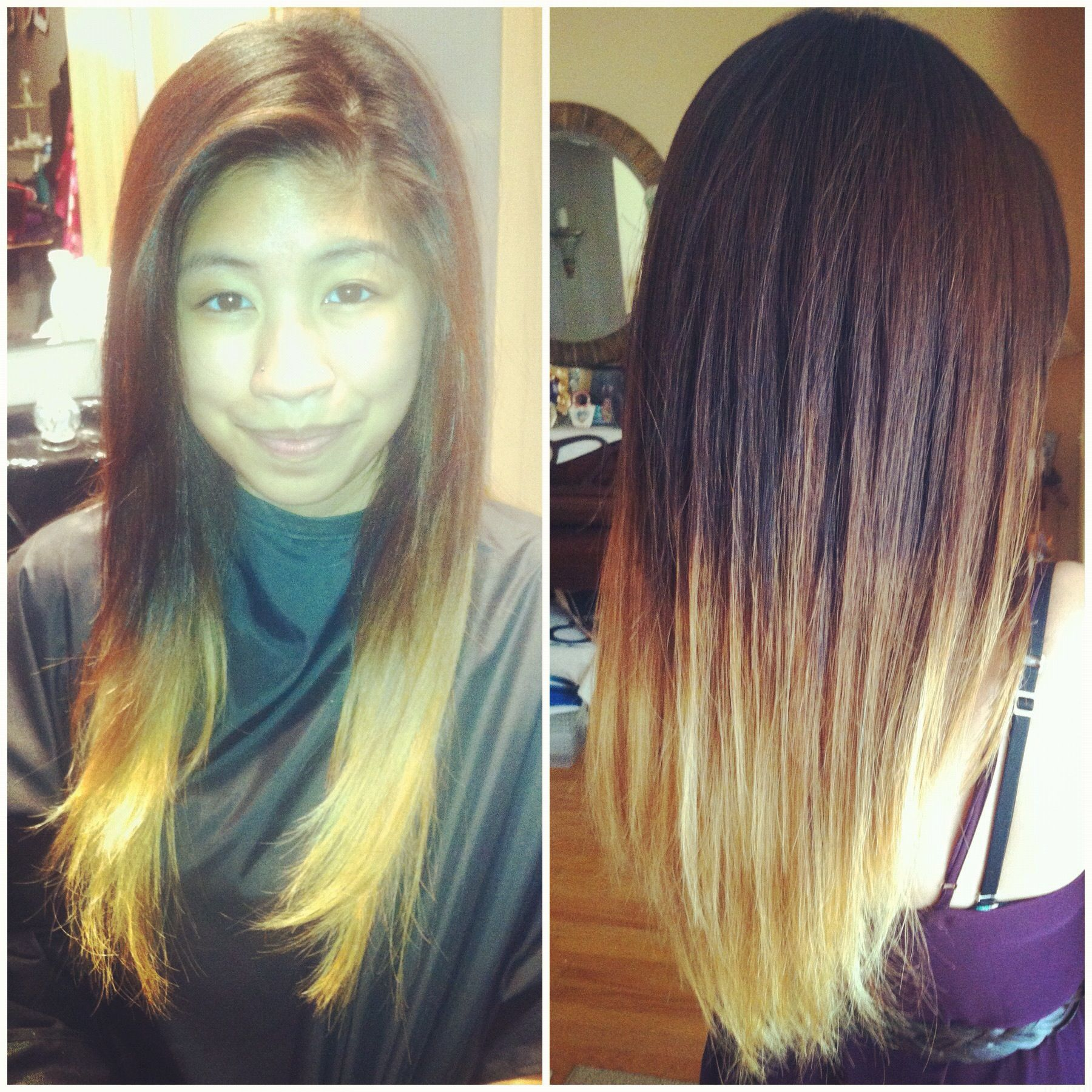 Medium Length Brown Hair With Blonde Underneath New Color