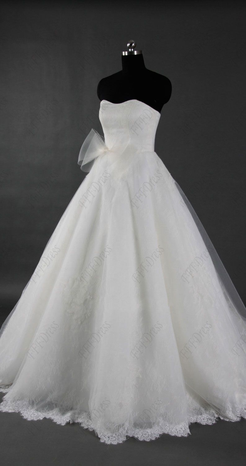 Lace sweetheart ball gown wedding dress with sash wedding dresses
