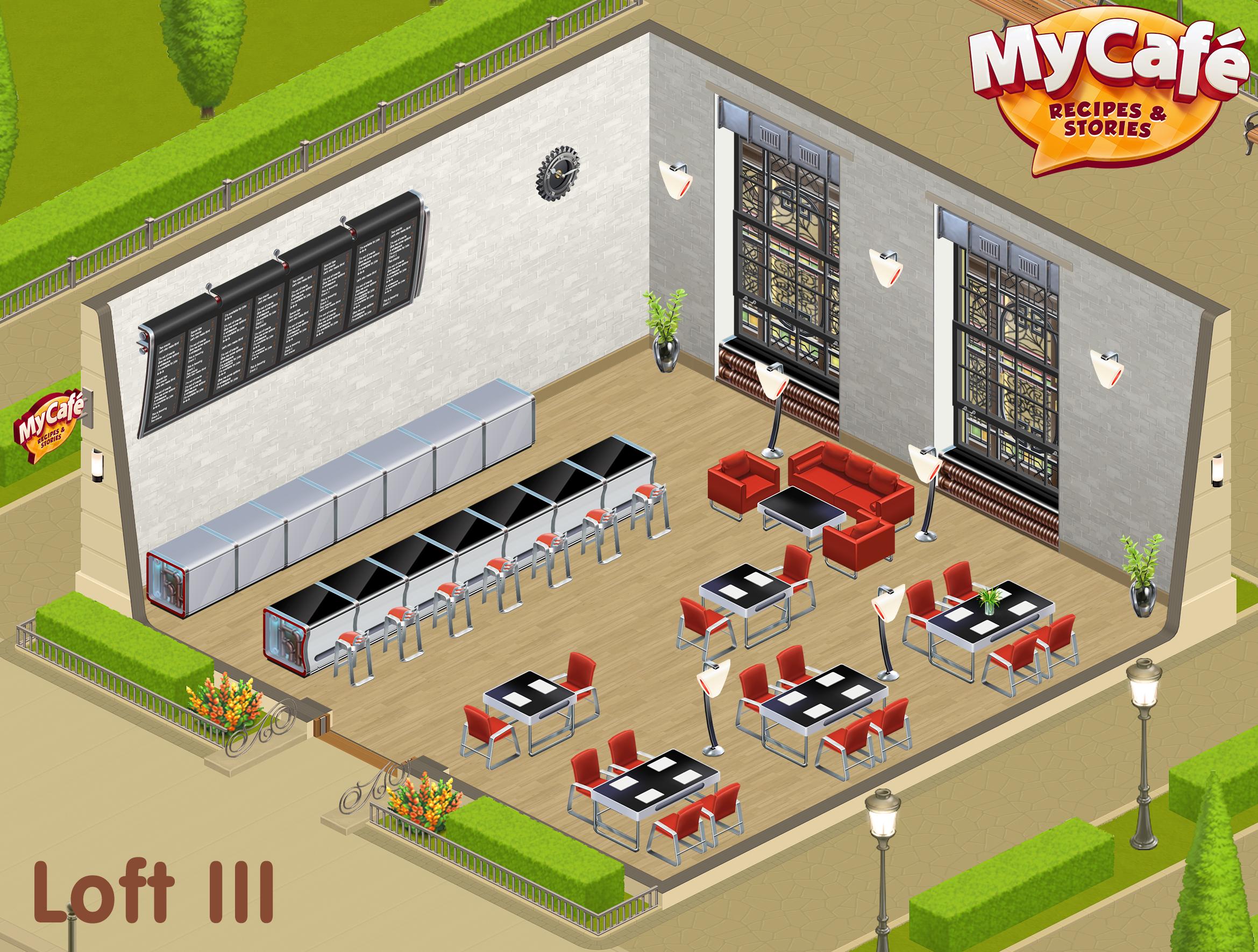Loft Iii Style My Cafe Game Mycafe Mycafegame Com Imagens