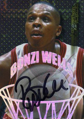 ROOKIE 98/99 COLLECTORS EDGE AUTHENTIC PRO SIGNATURES BONZI WELLS TRAILBLAZERS