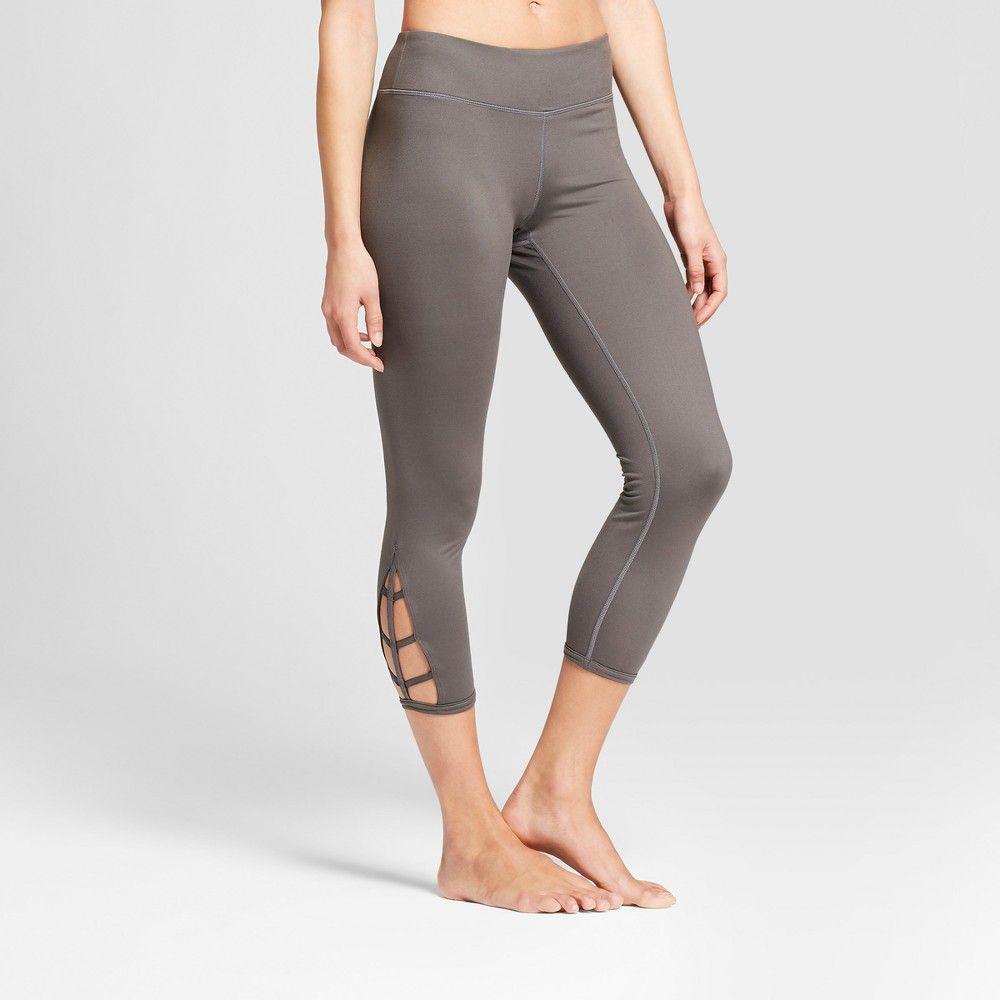 3d0c49c1dd460 Women's Comfort Crop Lattice Mid-Rise Leggings - JoyLab Eiffel Tower Gray  Xxl