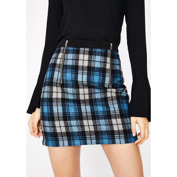 0533d4614 Sky Plaid Mini Skirt ($12) ❤ liked on Polyvore featuring skirts, mini skirts,  tartan plaid skirt, zipper mini skirt, short tartan skirt, plaid miniskirts  ...