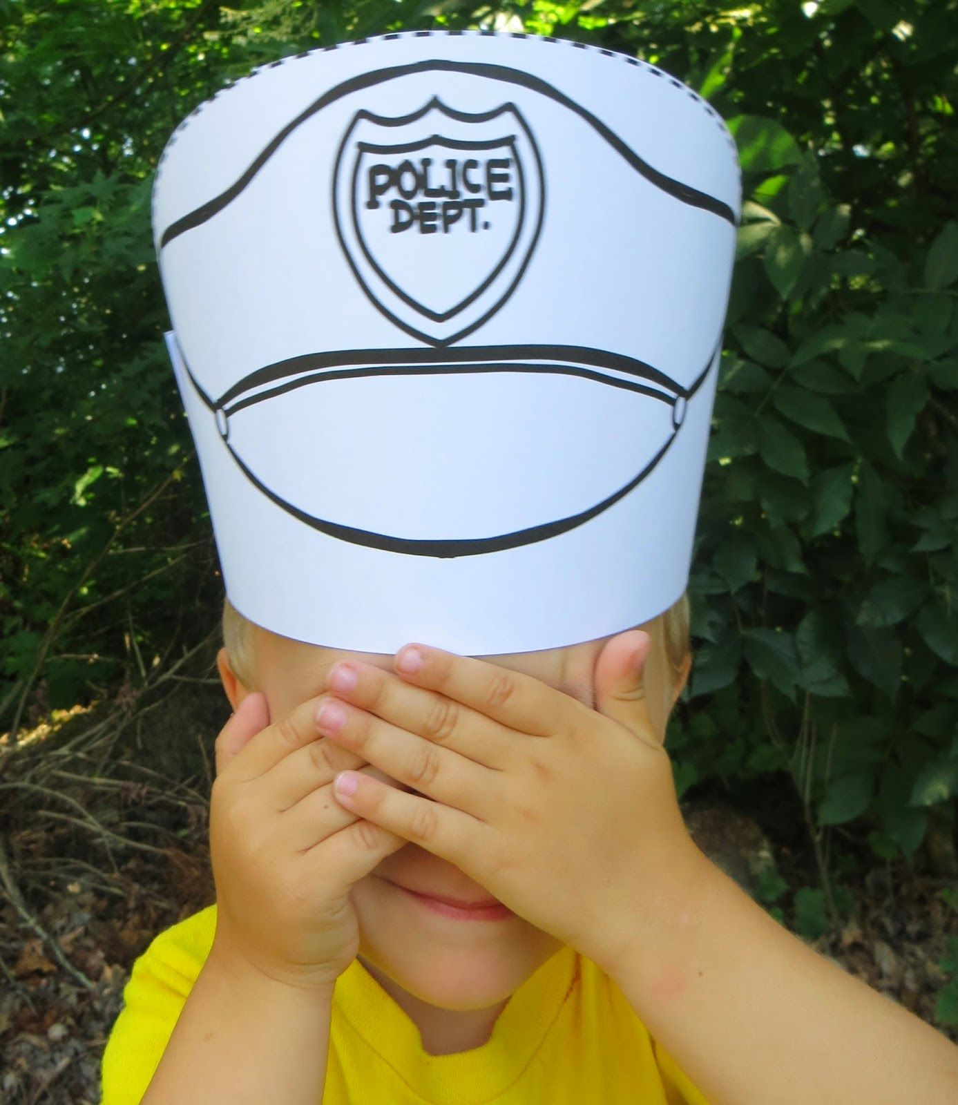 Color and go community helpers hats hats kids can make