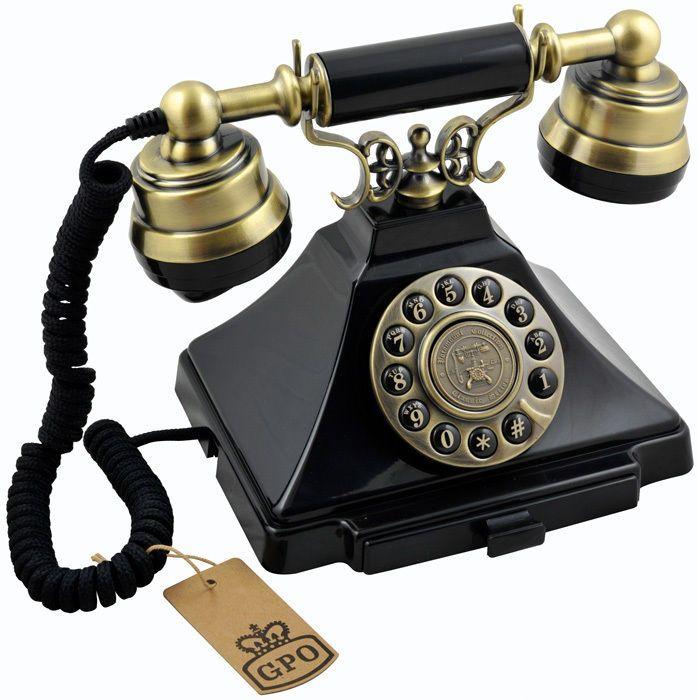 Gpo Duke Old Fashioned 1930s Vintage Black Brass Phone Push Button Telephone 5060203260316 Ebay Classic Phones Vintage Phones Dial Phone Vintage