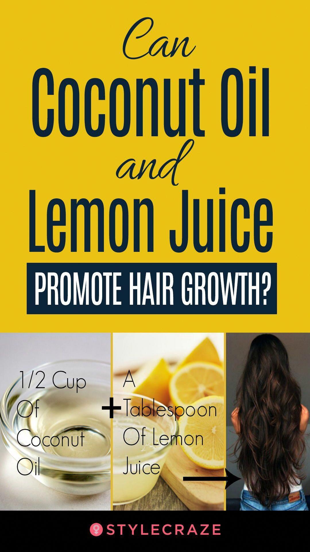 Coconut oil and lemon juice for hair growth haircare