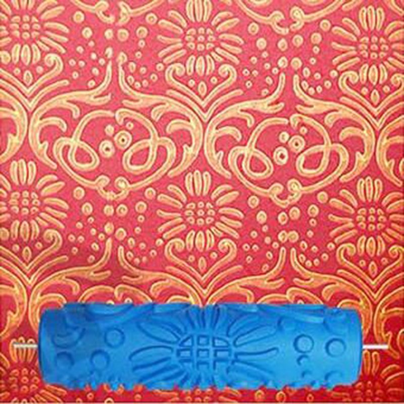 Classic Pattern 7inch 3D Rubber Wall Decorative Painting Roller