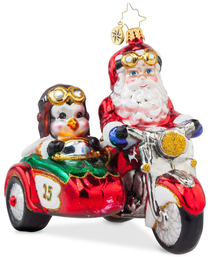 Christopher Radko Motorcycle Chums Ornament