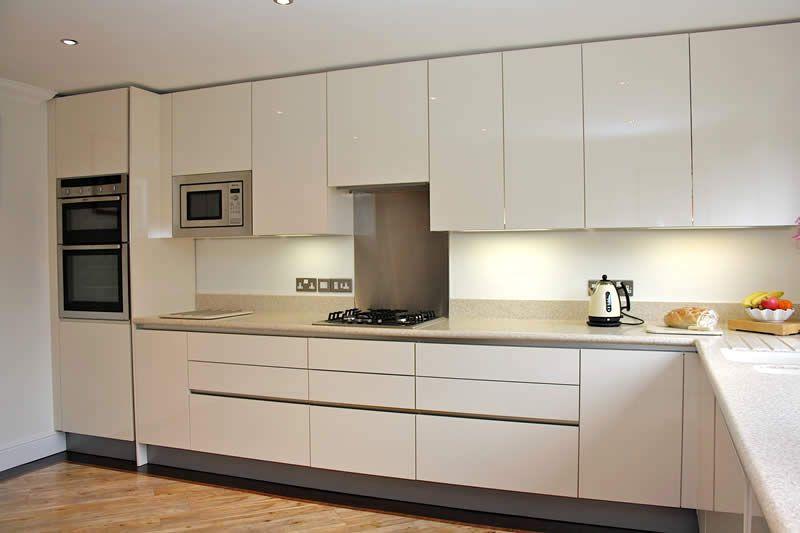 High gloss cream kitchen   Home decor   Pinterest