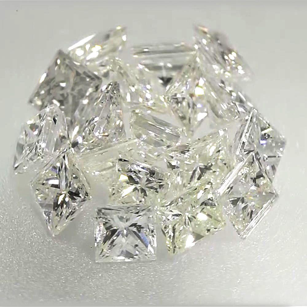 0.039 ctw J Color SI3 Clarity 1.94x1.70x1.52 mm Princess Cut Real Loose Diamond