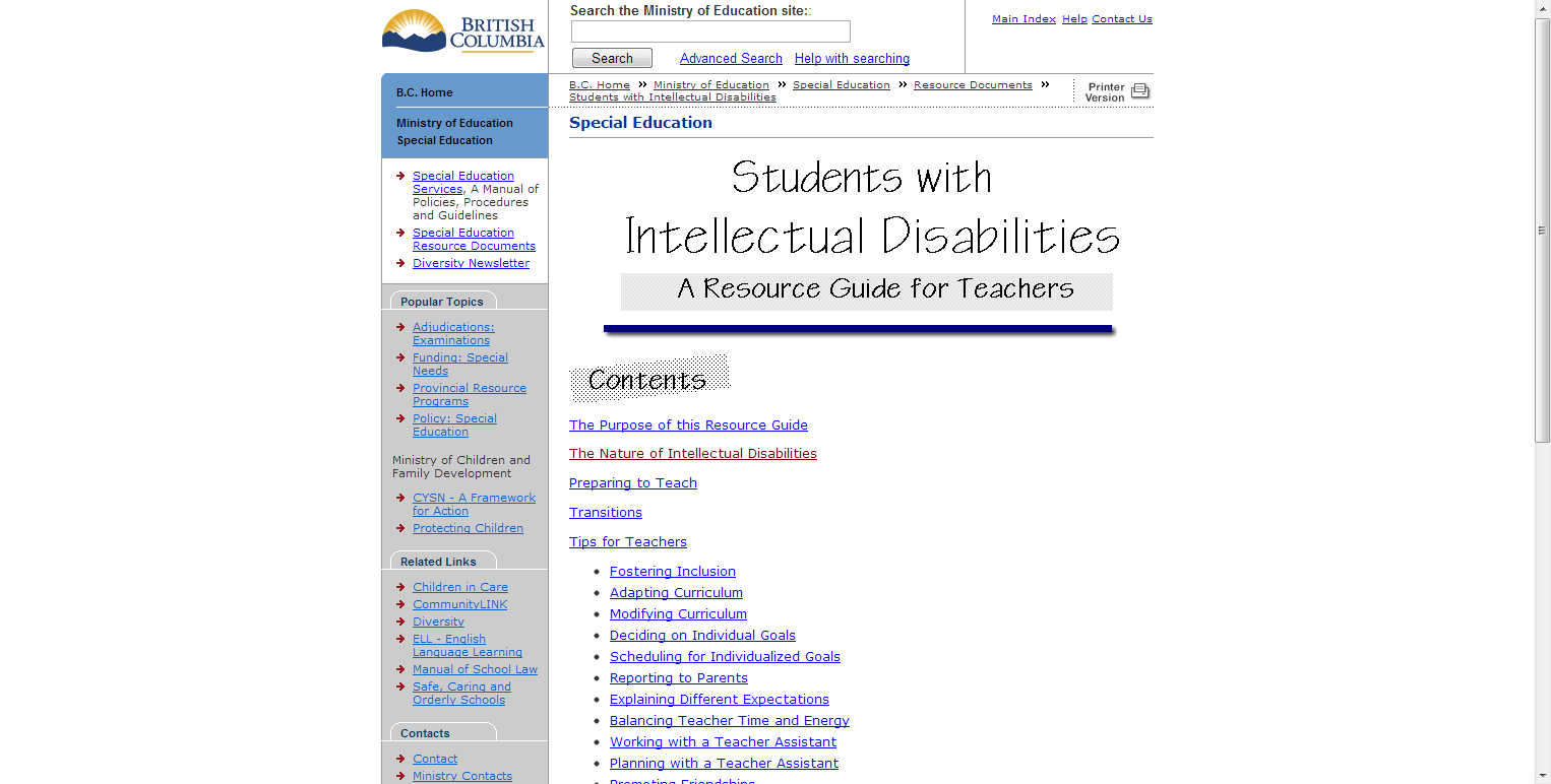 Teaching students with disabilities-a resource guide for the.