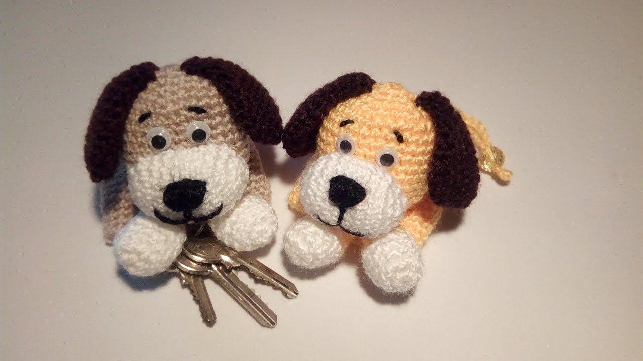 Cagnolino Portachiavi Amigurumi Tutorial - Keychain Crochet - Llavero Cr... #amigurumitutorial