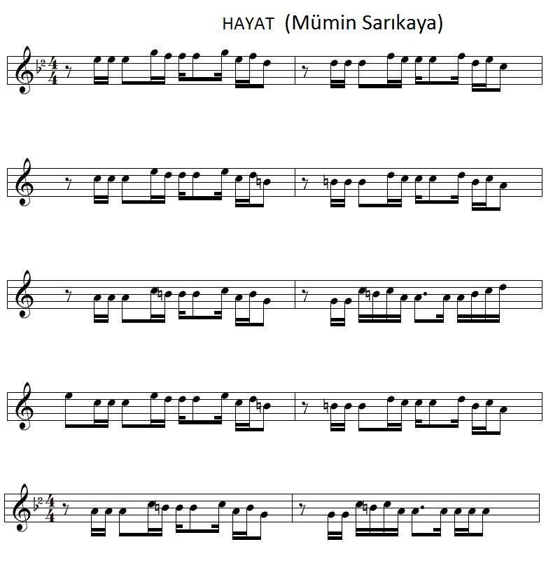 All Music Chords desperado sheet music : ben yoruldum hayat notaları - Google'da Ara | Solfej | Pinterest ...