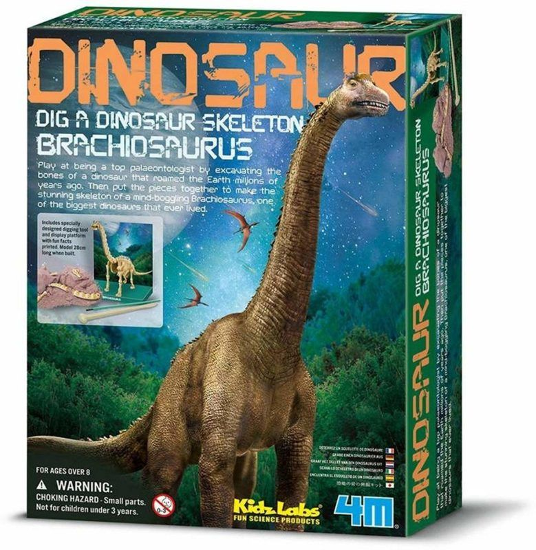 4M KidzLabs Brachiosaurus Dinosaur Skeleton Excavation Kit
