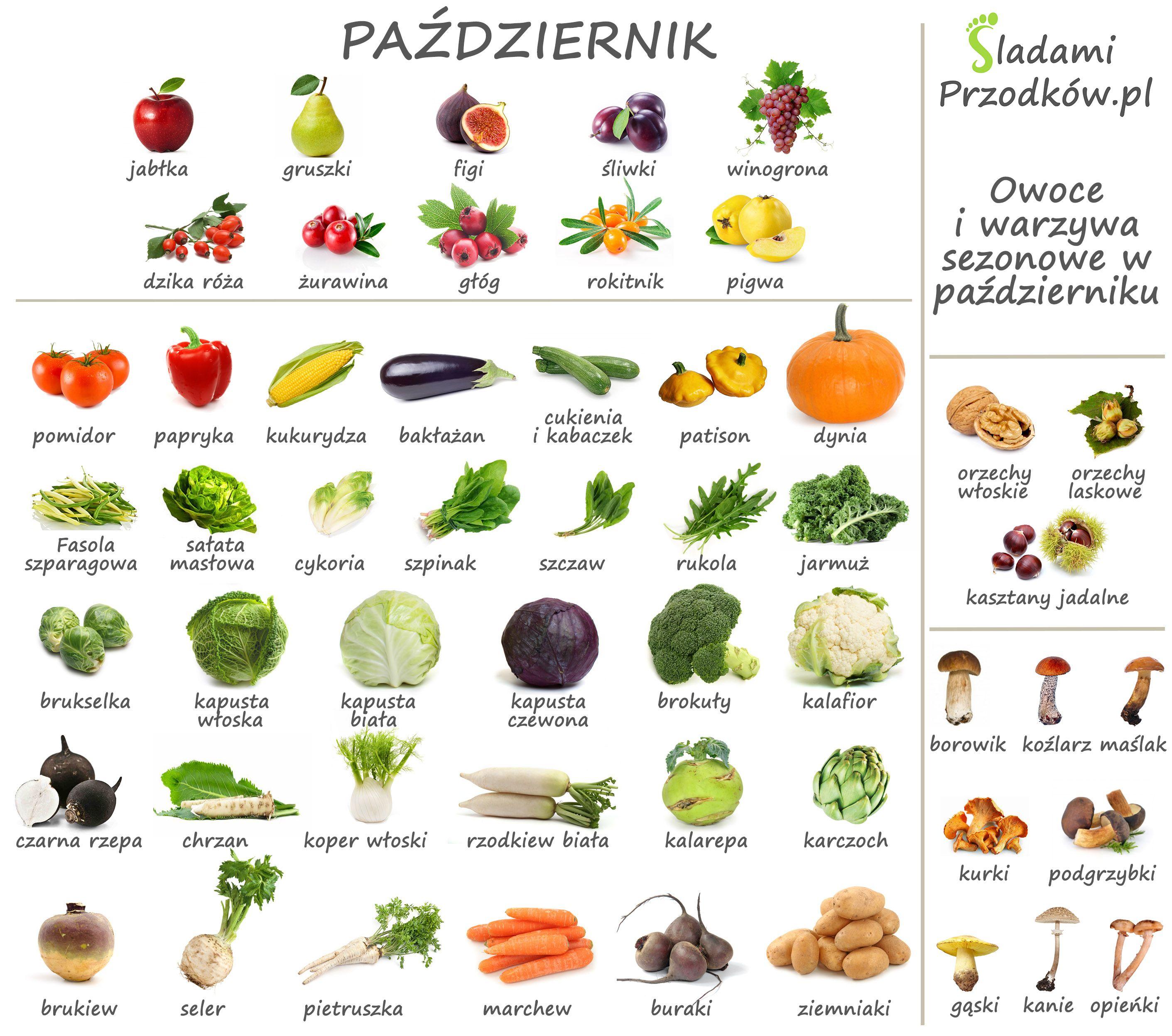 Sladami Przodkow Infografika Kalendarz Sezonowy Pazdziernik Jpg 2822 2495 Healthy Healthy Plan Healthy Recipes