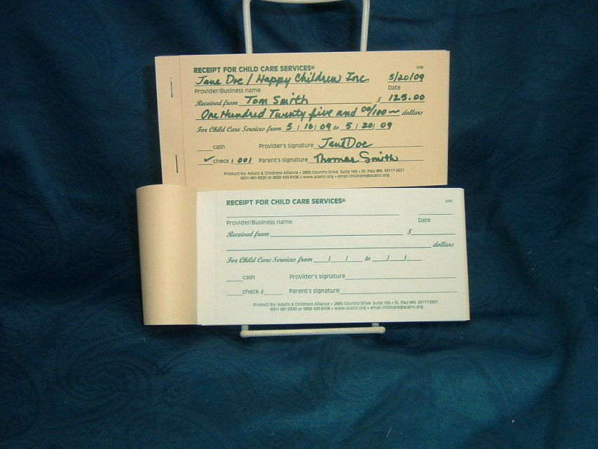 Receipt For Child Care Services Lovely Receipt Child Care Book Child Care Services Childcare Letter Of Encouragement