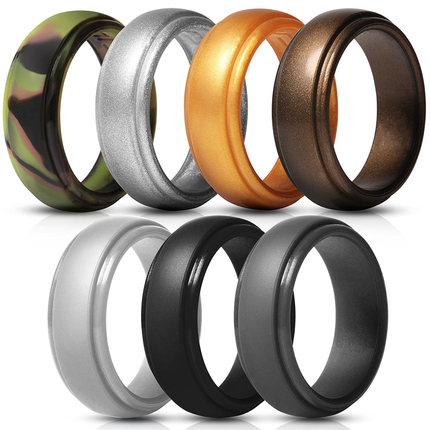 Size 6 5 7 Rubber Wedding Band Silicone Wedding Band Mens Rubber Rings Wedding