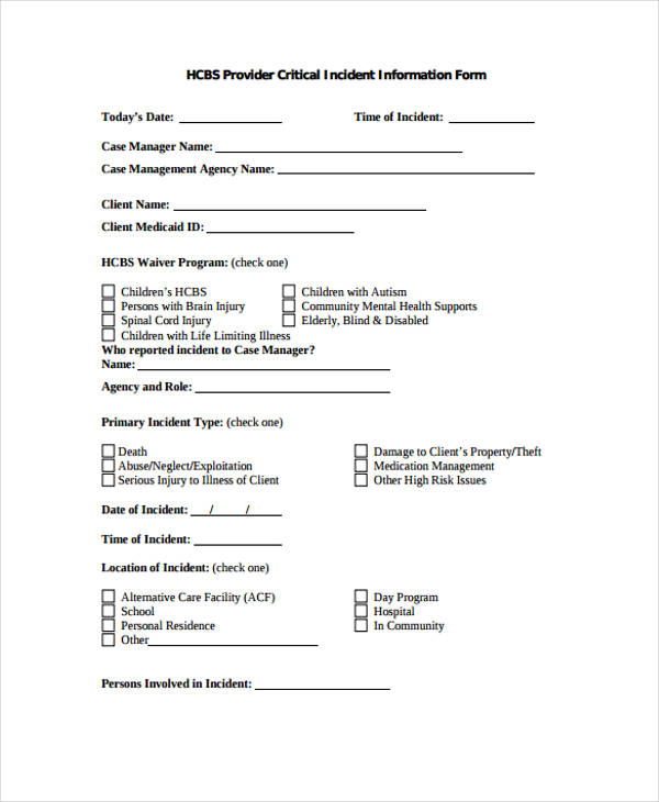 serious incident report template  2