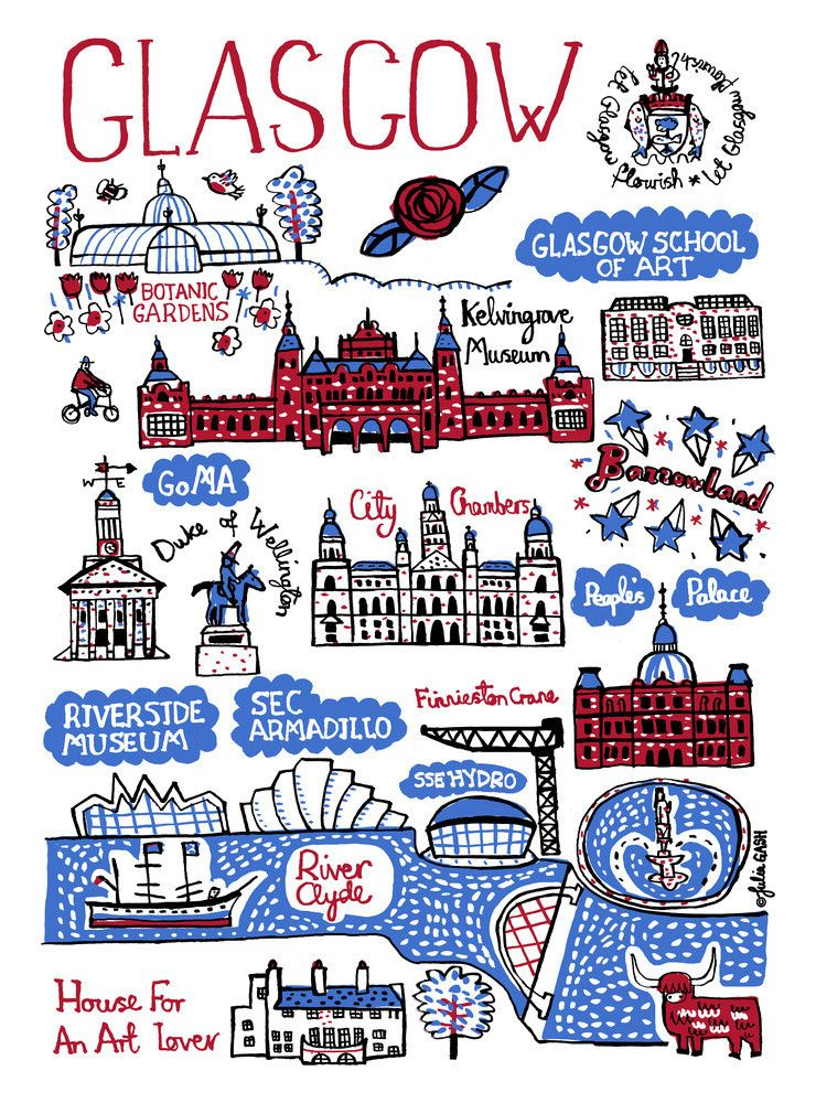 Glasgow by Julia Gash art print from King & McGaw in