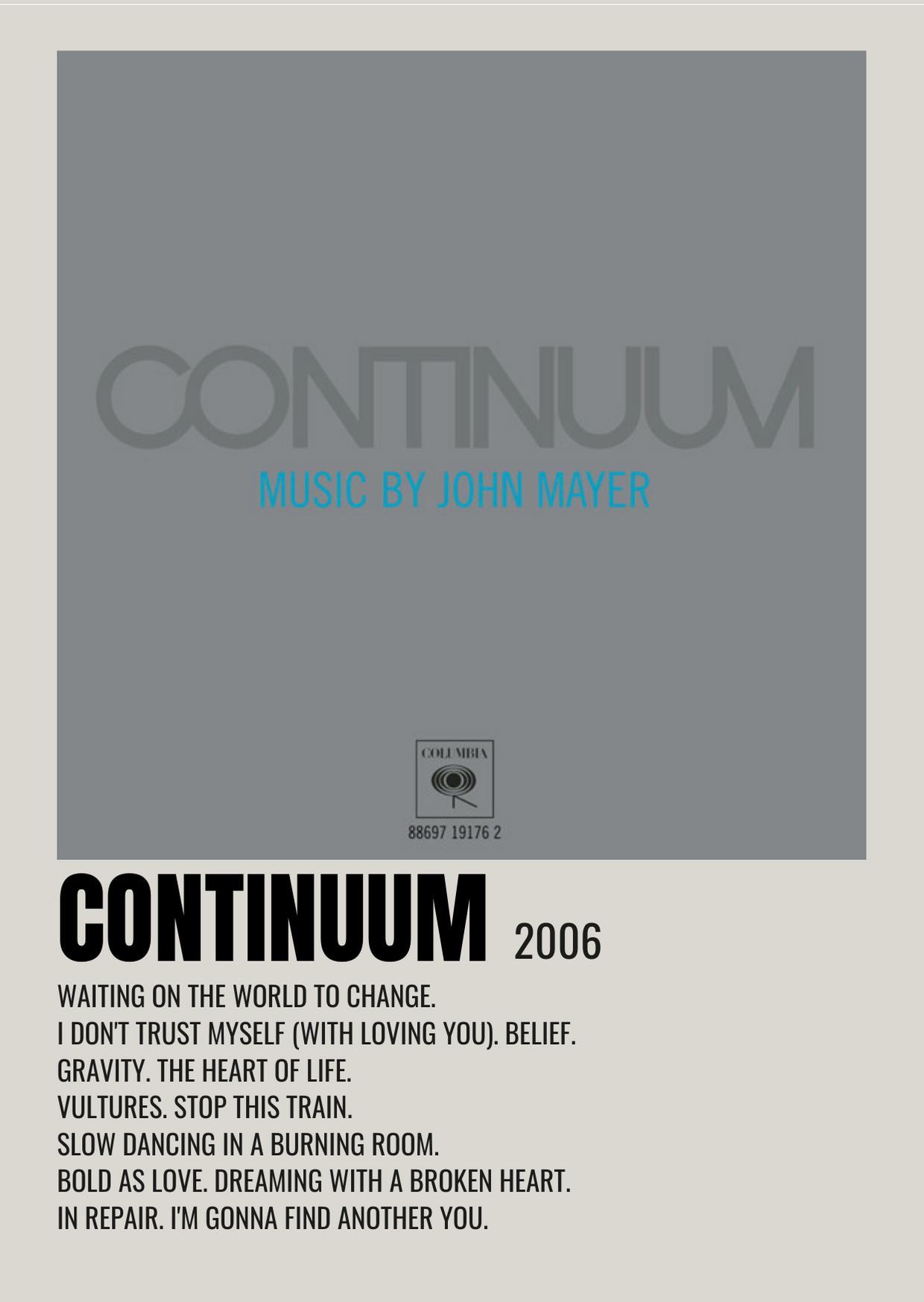 minimalist poster john mayer