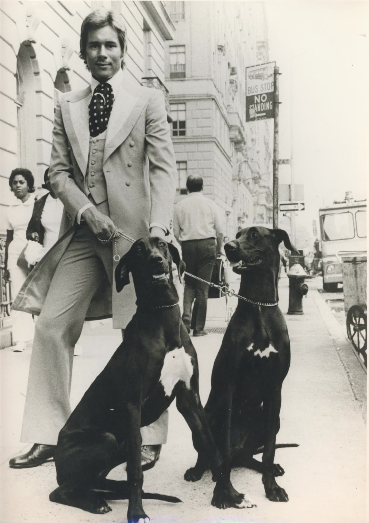 Tommy Nutter With Dogs Nyc 1970S