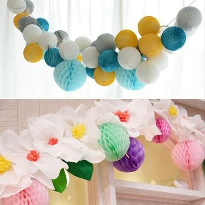 Honeycomb Balls Decoration 8Cm 10Pc Tissue Paper Honeycomb Balls Hanging Paper Balls